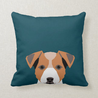 Bailey - Jack Russell Terrier Dog Illustration Throw Pillow