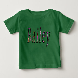 Bailey, Name, Logo, Baby Girls Green T-shirt