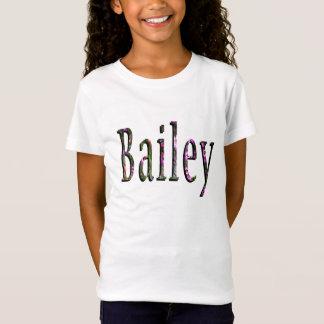 Bailey, Name, Logo, Girls White T-shirt