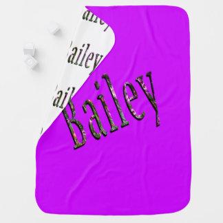 Bailey, Name, Logo, Snugly Reversible Baby Blanket