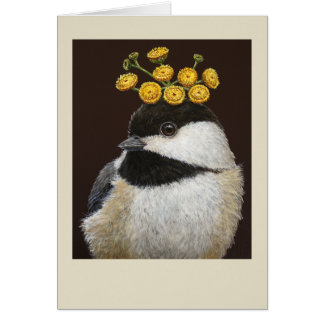 Bailey the chickadee card