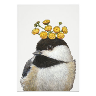 Bailey the chickadee flat card