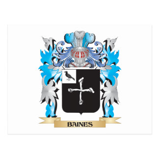 Baines Coat of Arms Postcard