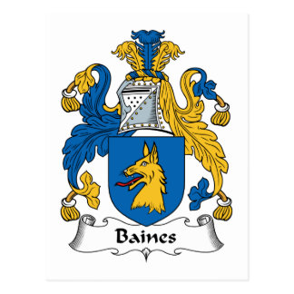 Baines Family Crest Post Cards
