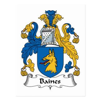 Baines Family Crest Postcard