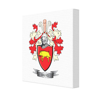 Baird Family Crest Coat of Arms Canvas Print