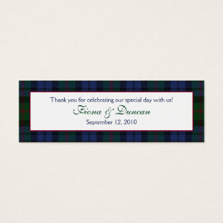 Baird Tartan Favor Tag Mini Business Card