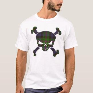 Baird Tartan Skull No Banner T-Shirt