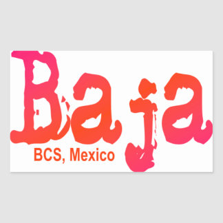 Baja, BCS, Mexico Rectangular Sticker