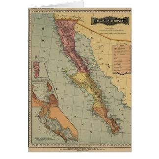 Baja California Antique Map Greeting Card