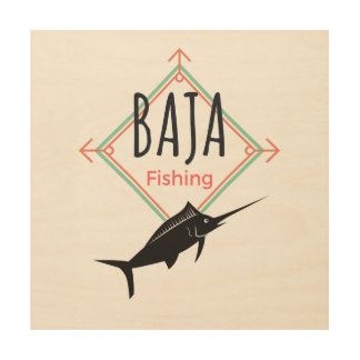 Baja Fishing Wood Wall Art