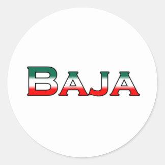 Baja Mexico (text logo) Classic Round Sticker