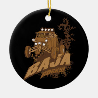 Baja Rocks! Ceramic Ornament