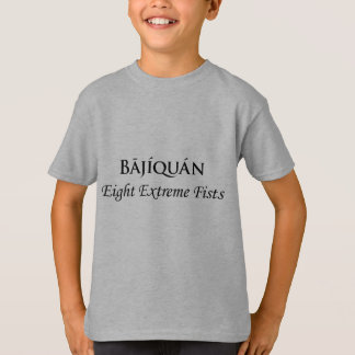 Bājíquán Black Print T-Shirt