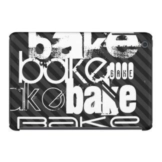 Bake; Black & Dark Gray Stripes iPad Mini Cases