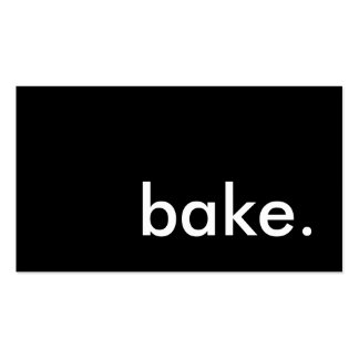 bake. (color customizable) pack of standard business cards