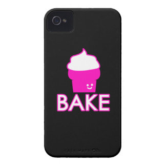 Bake - Cupcake Design - White Text iPhone 4 Case