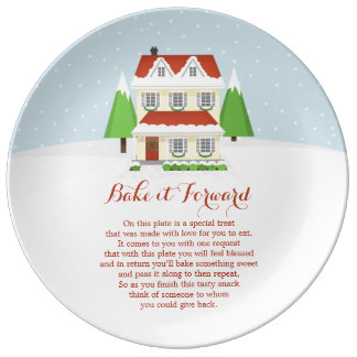 Bake it Forward Merry Christmas Plate