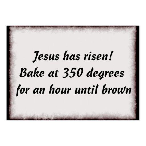Bake Me A Jesus Business Card Template