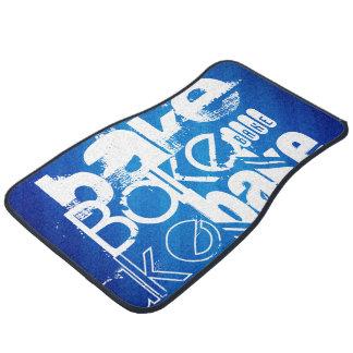 Bake; Royal Blue Stripes Car Mat