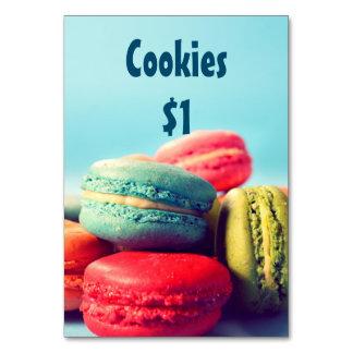 Bake Sale Price Table Sign Colorful Macarons Card