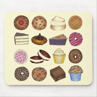 Bake Sale Treats Cupcake Cookie Pie Brownie Donut Mouse Pad