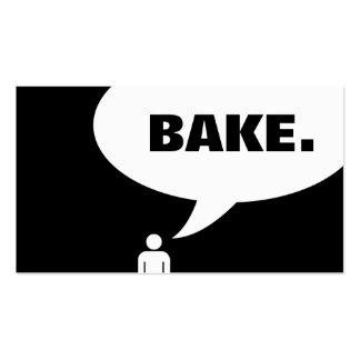 BAKE speech bubble Business Card Template