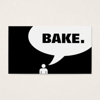 BAKE. speech bubble Business Card