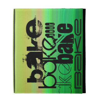 Bake; Vibrant Green, Orange, & Yellow iPad Folio Case