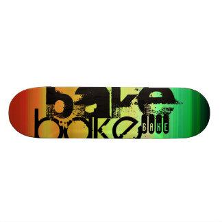 Bake; Vibrant Green, Orange, & Yellow Skateboard