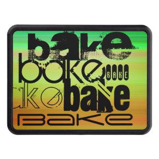 Bake; Vibrant Green, Orange, & Yellow Trailer Hitch Cover