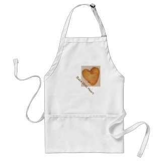 """""""Bake With Heart"""" and baked heart apron"""