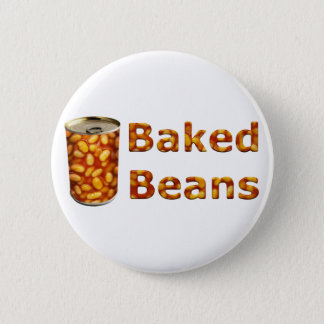 Baked Beans Can 6 Cm Round Badge