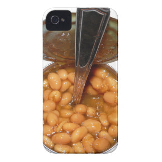 Baked Beans in Tin Can with Spoon iPhone 4 Covers