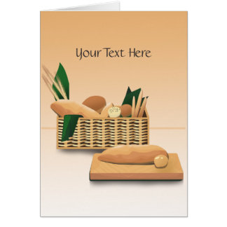 Baked Bread Custom Greeting Card