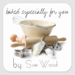 Baked by YOU Gift Tags Square Stickers