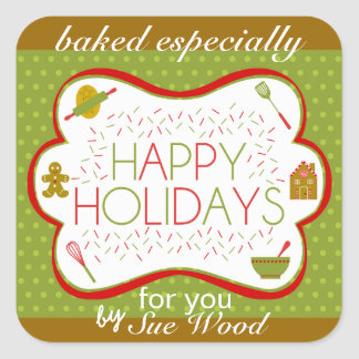 Baked by YOU Holiday Labels Stickers