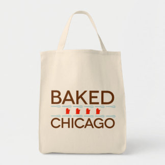 Baked Chicago Organic Grocery Tote Grocery Tote Bag