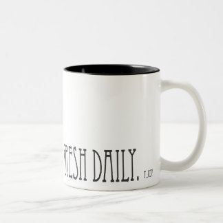 Baked Daily and Fresh Coffee Two-Tone Coffee Mug