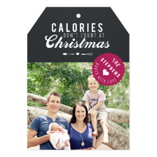 Baked gift Christmas Photo Card gift tag 13 Cm X 18 Cm Invitation Card