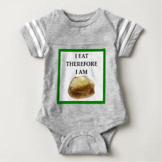 baked potato baby bodysuit