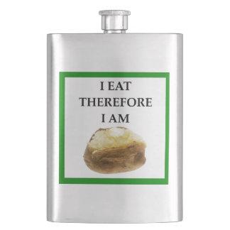 baked potato hip flask
