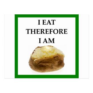 baked potato postcard