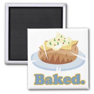 BAKED text baked potato Fridge Magnets