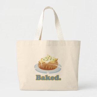 BAKED text baked potato Jumbo Tote Bag