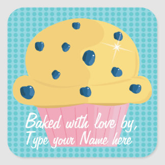 Baked with love by, Personalized Stickers