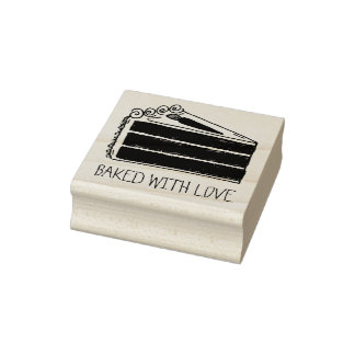 Baked with Love Carrot Cake Slice Baking Stamp