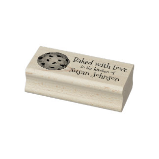 Baked with Love Personalized Cookie Baking Stamp