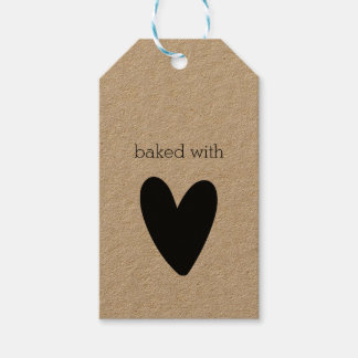 Baked with love personalized gift tags