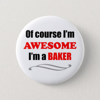 Baker Awesome Family 6 Cm Round Badge